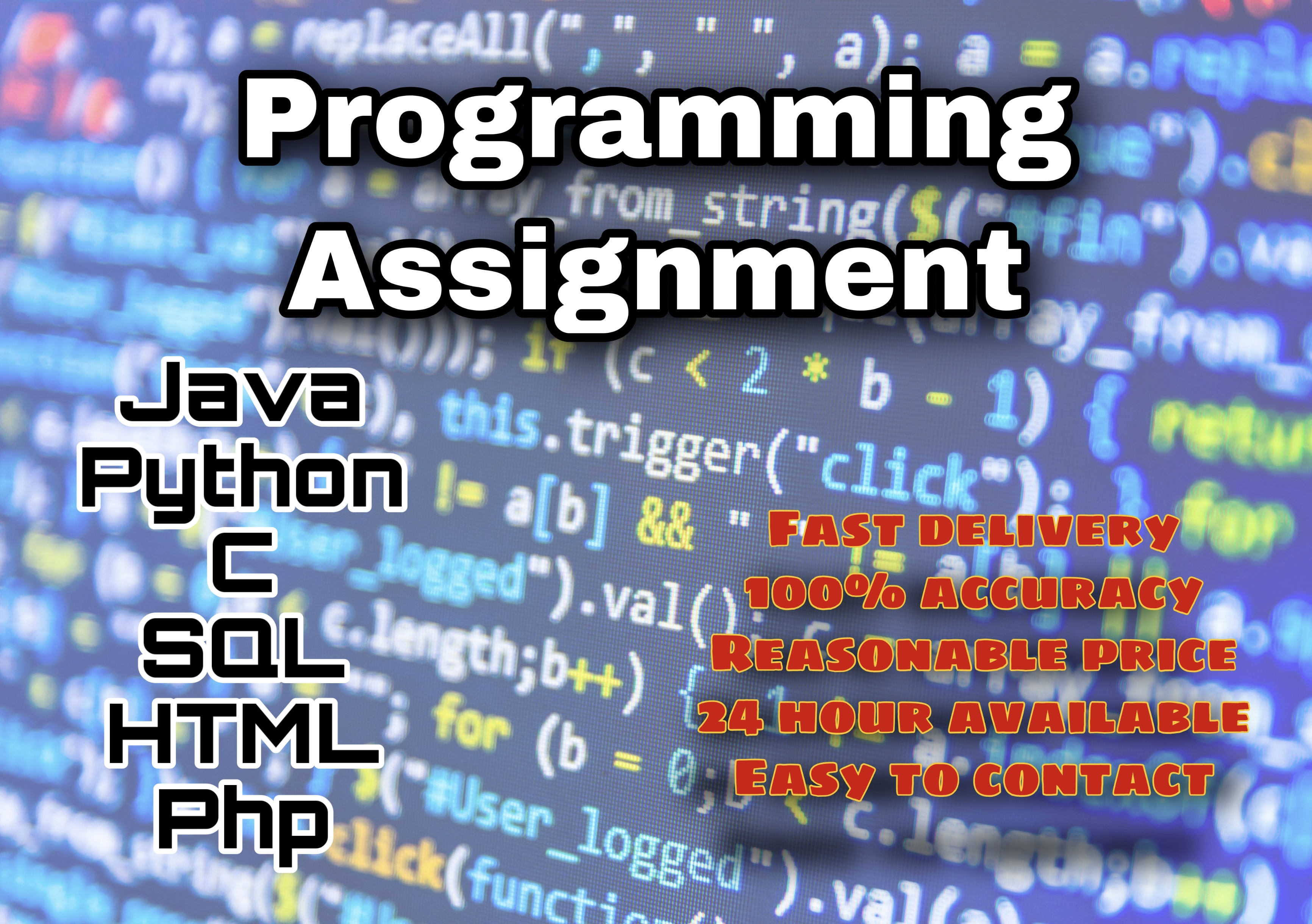 I will help you to do programing projects