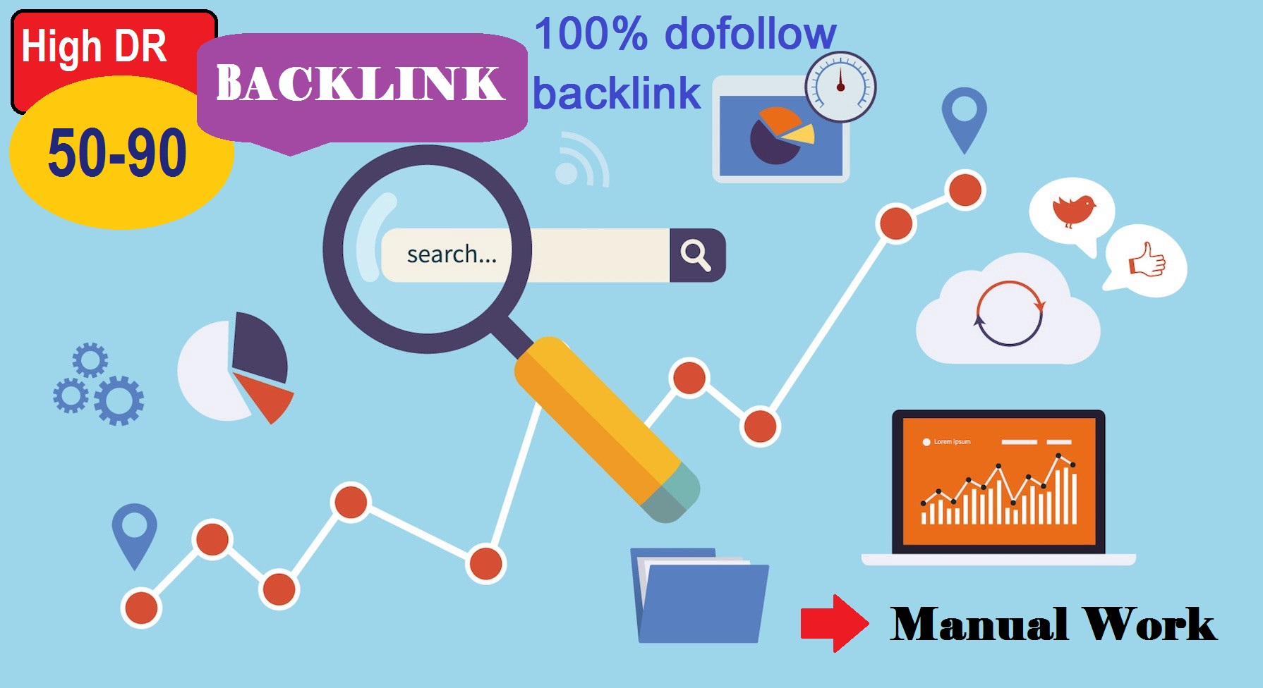 I will do 50 create dofollow Backlinks