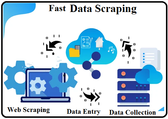 Fast Data Scraping in one day,  Web Scraping,  Data Entry,  Data Collection.