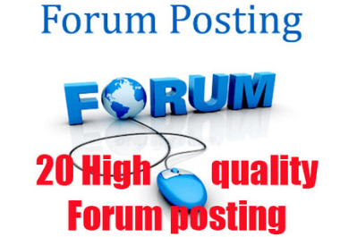 I Can Give You 20 High Quality Forum Posting High Authority SEO Backlinks