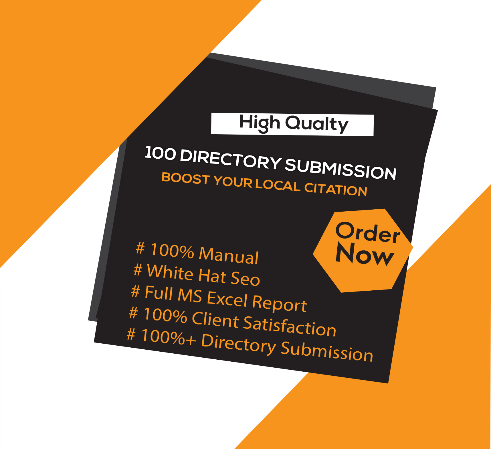 I will manually create 100 high authority directory submission backlinks