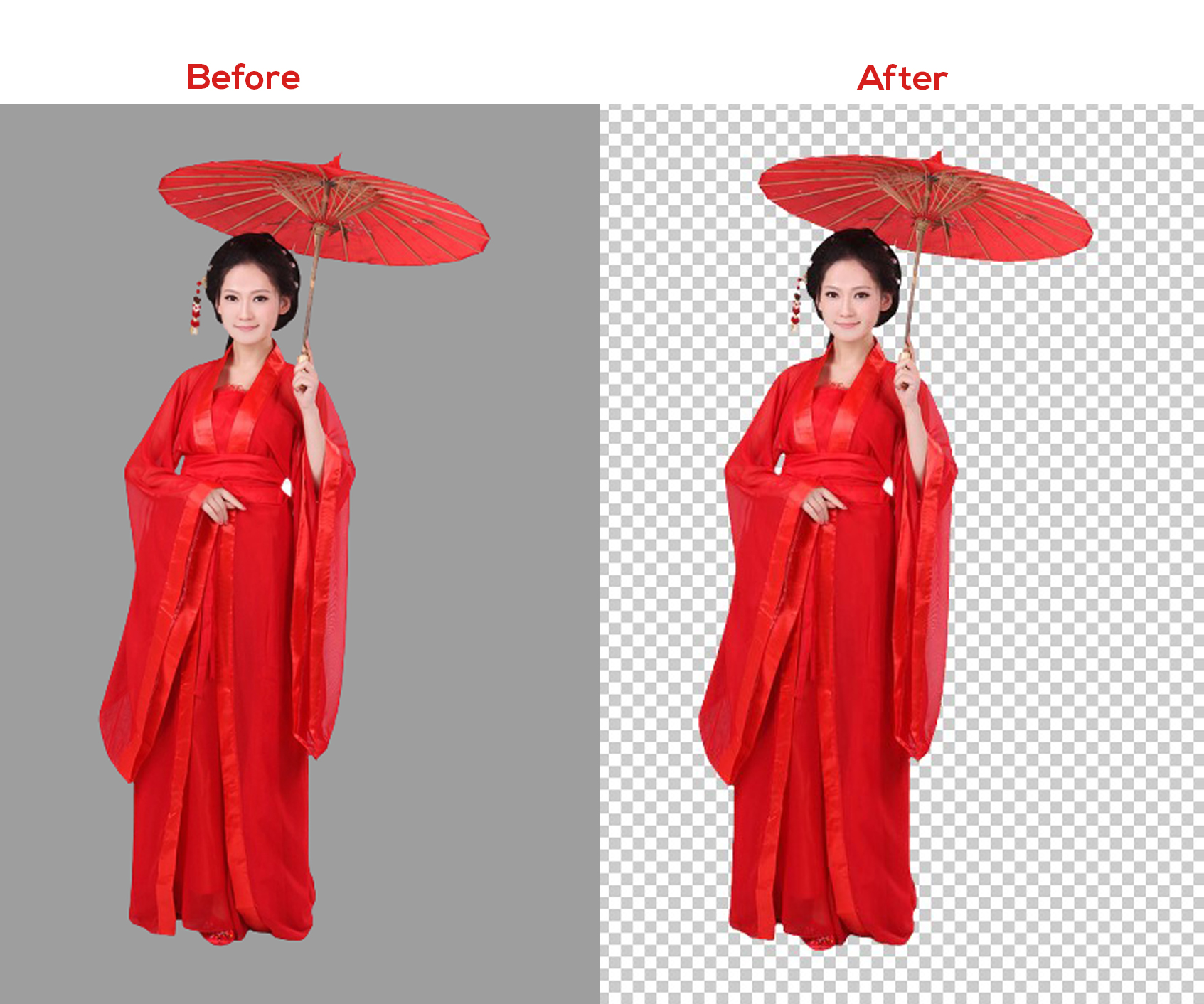 I will do professional background removal,  image resize and color change