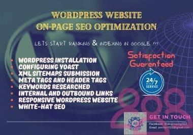 I evolve the WordPress Website with On-page SEO Yoast plugin