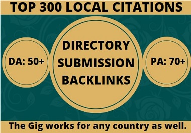I will do local citations or directory submission SEO backlinks