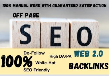 I Will Manually Create 300 Web 2.0 Backlinks