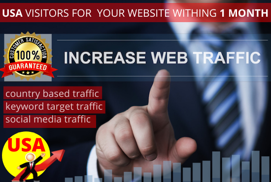 I will provide 15000+ real USA visitors for your website withing 1 month