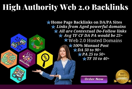 I will do 50 manual web2.0 on high authority sites