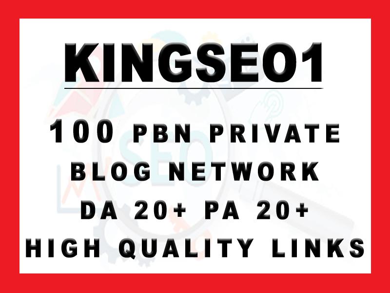 KINGSEO Provide 100 PBN DA 20+ PA 20+ High Quaity Links
