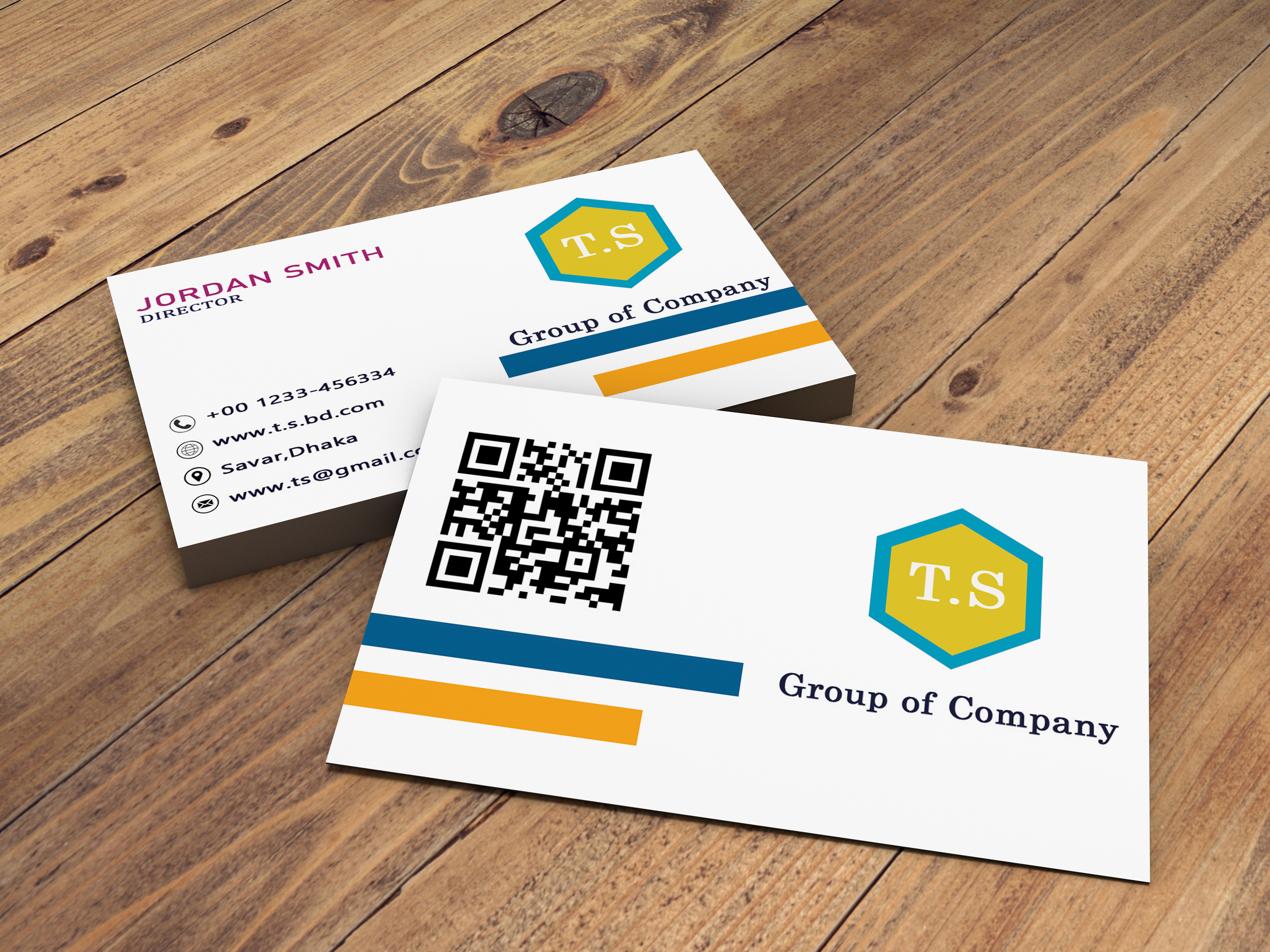 I will design minimal and modern business card for you