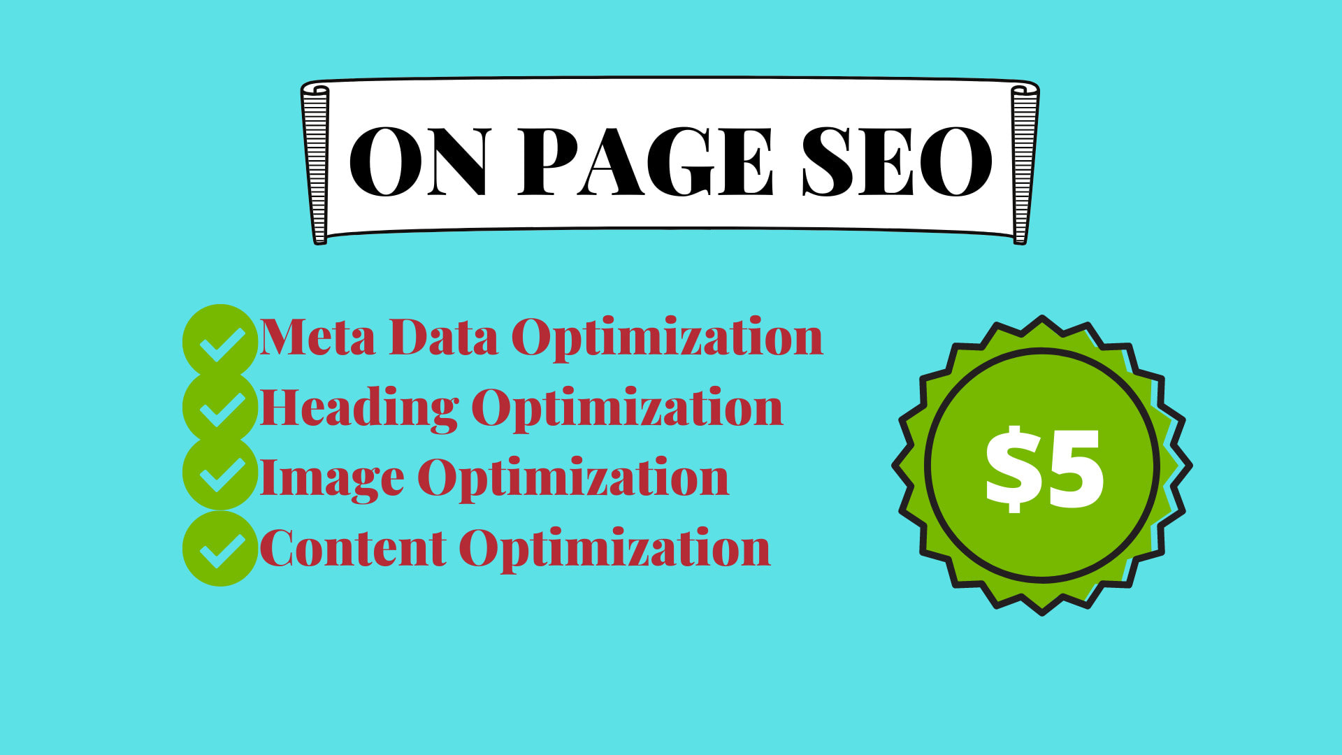 I will do on page SEO optimization