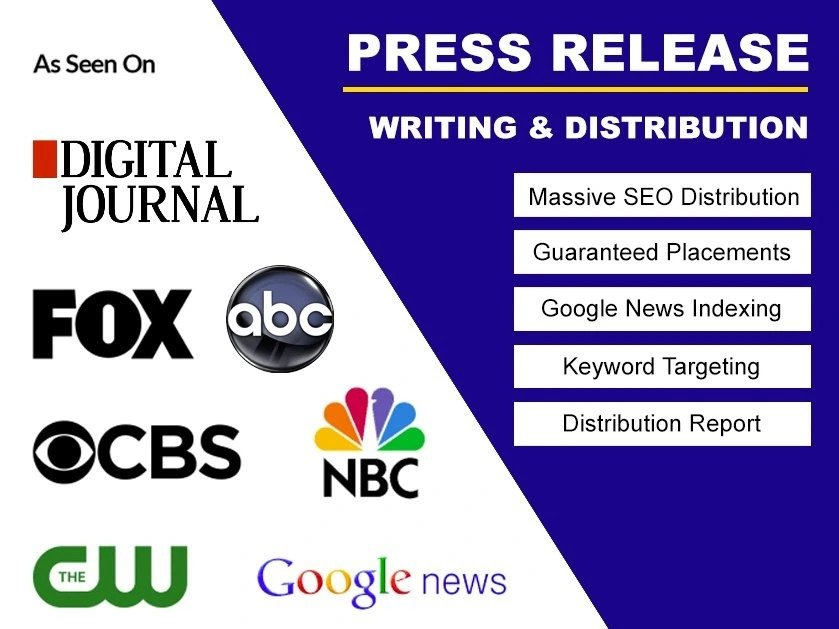 Write press release writing with press release distribution for you