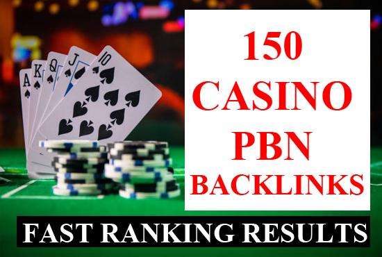 150 casino pbn backlinks Poker casino gambling SEO dofollow linkbuilding for fast ranking