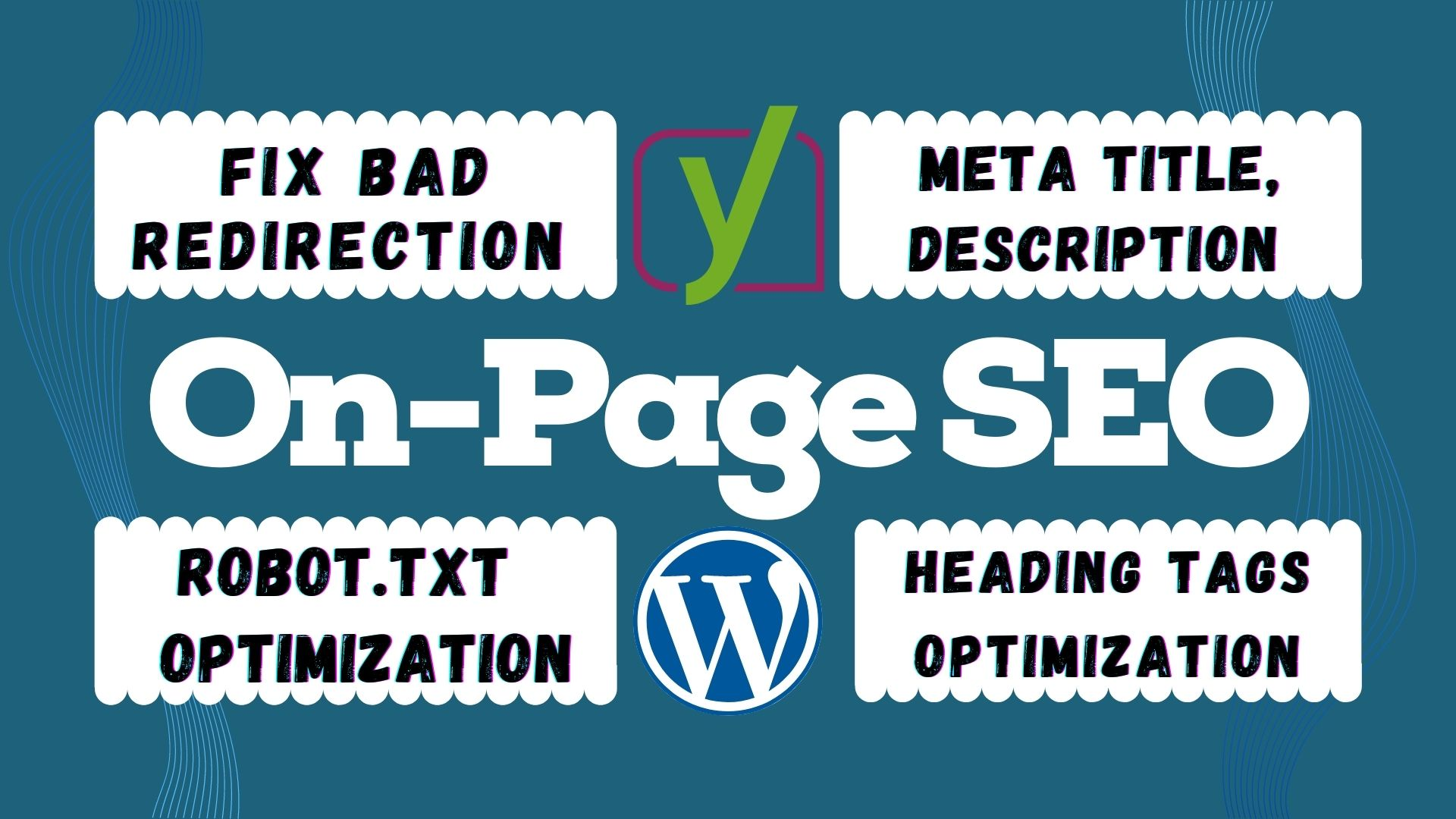 I will do complete on page SEO and technical optimization with yoast plugin
