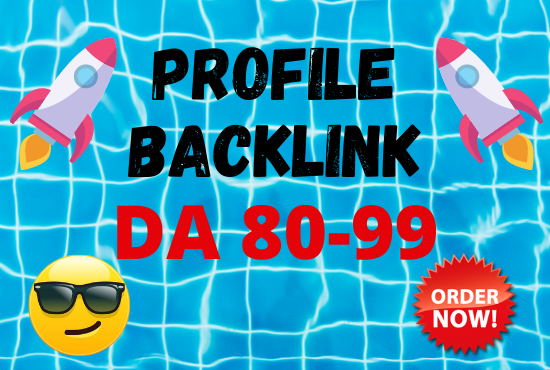 80 powerful profile backlinks with DA 80-99