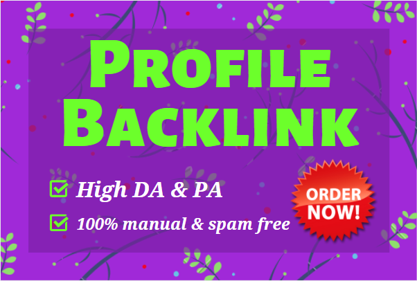 150 top quality profile backlinks with DA 60-99