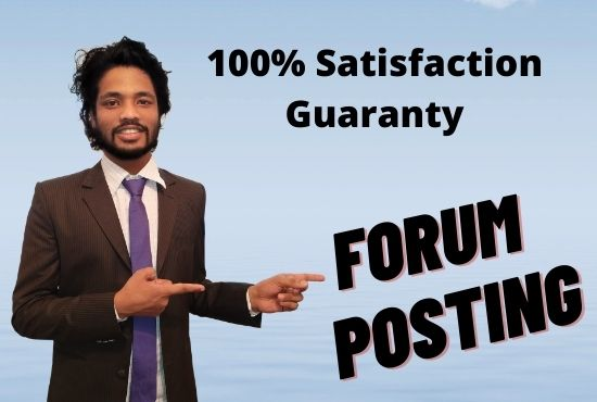 I will post 200 high quality forum posts on your forum
