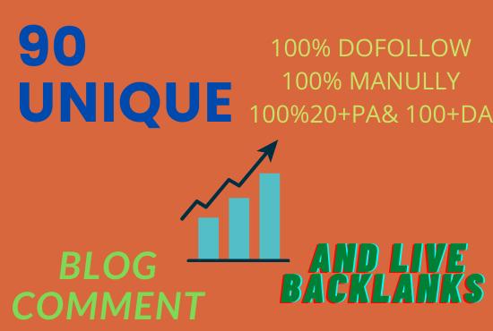 90 unique domains SEO service blog comments backlinks