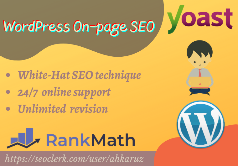 I will do wordpress yoast/rank math SEO optimization for ranking your website
