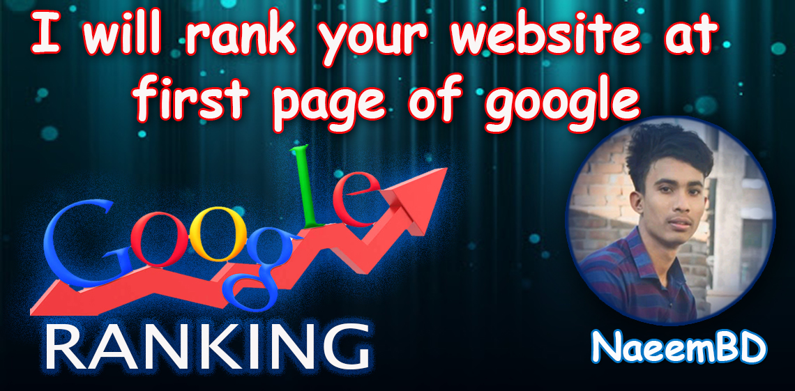 I will rank your website or store by optimizing google ranking factors