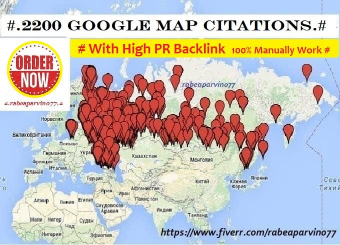I will create 2200 google map citations with high PR backlink