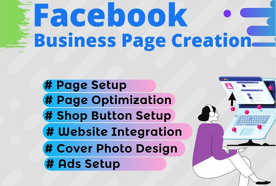 I will do set up and optimize your facebook business page.