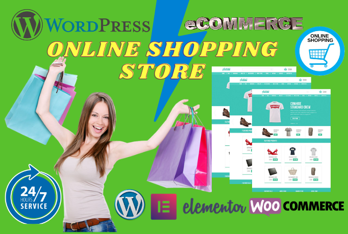 I will build wordpress ecommerce website with woocommerce