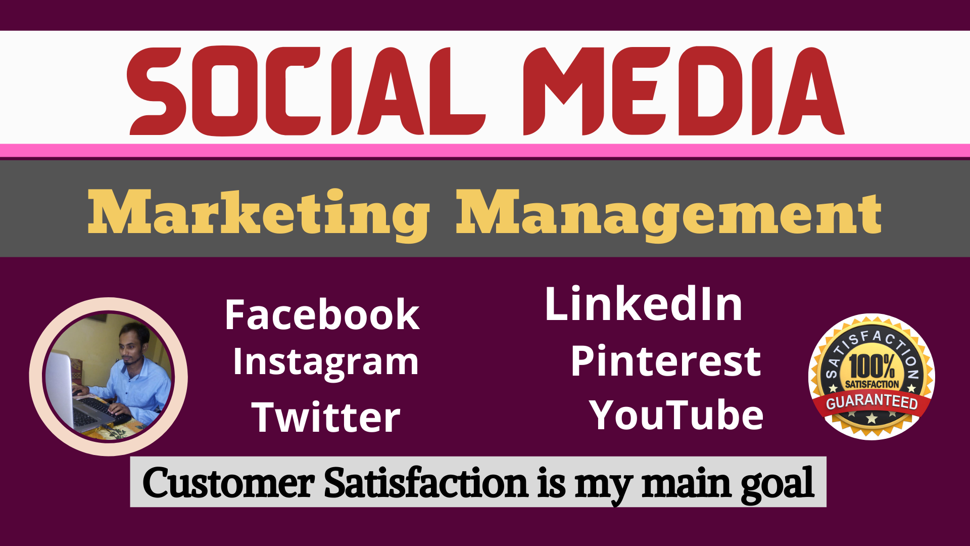 I will be your professional social media management services