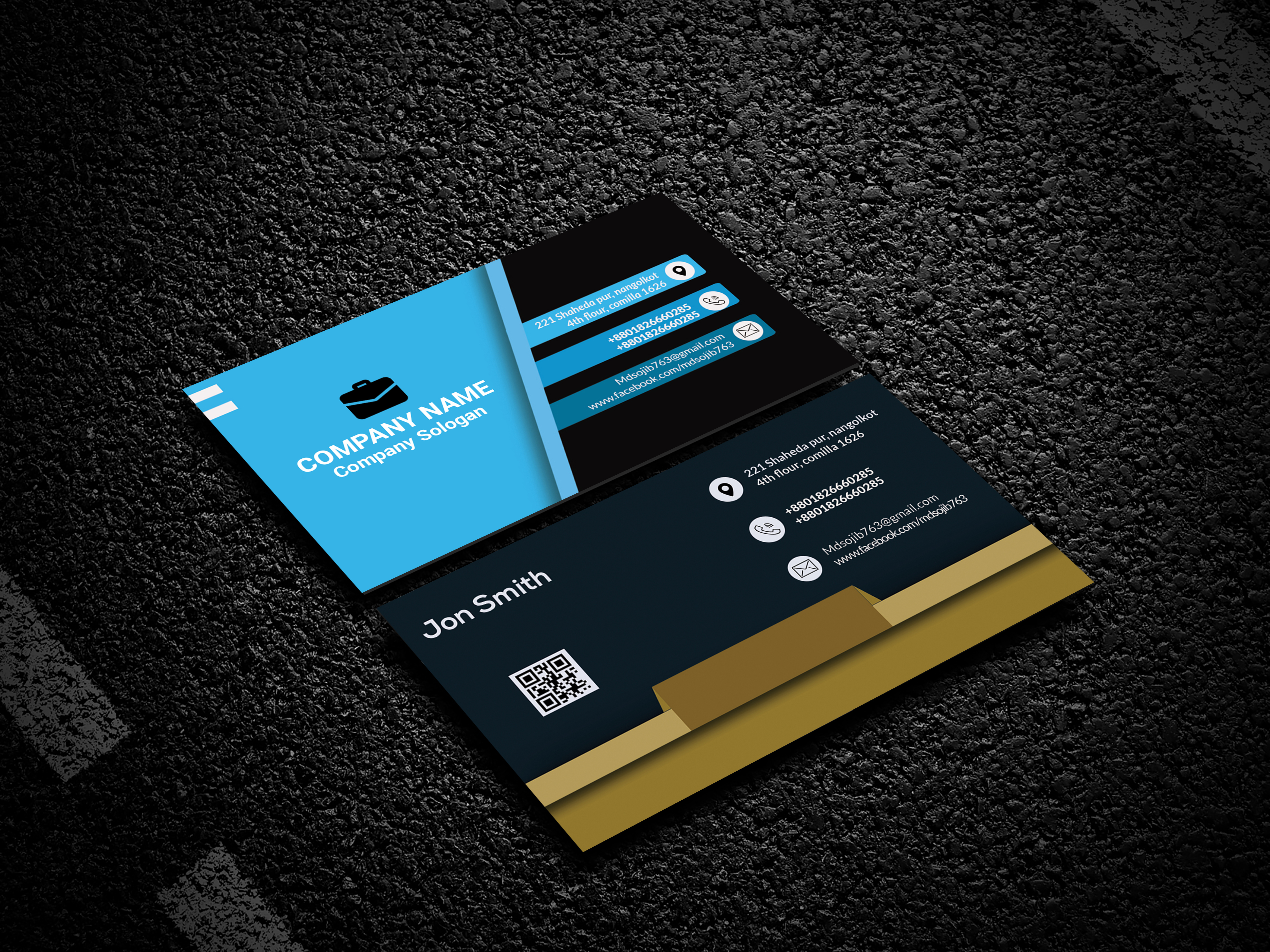 2 luxury business card and minimal business card,  stationary design