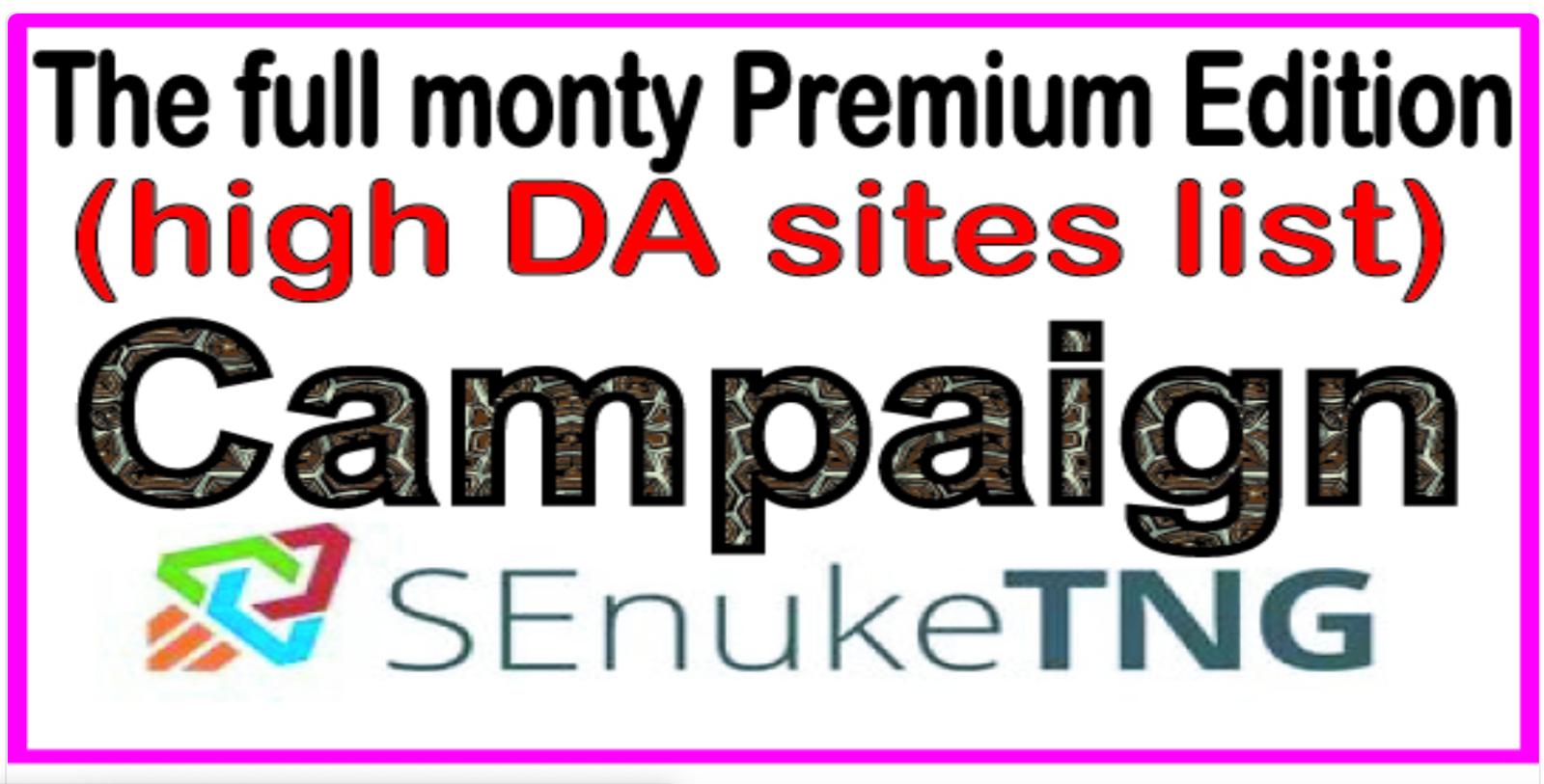 The full monty campaign 2020 Unique Domains 700
