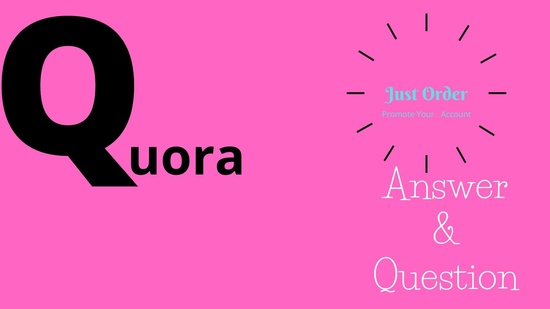 Your Website link Promote High Quality Question & Answer Posting with Quora
