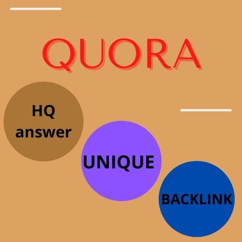 30 unique Quora answers provide with backlink