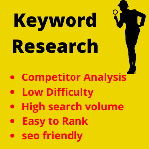 I provide competitor analysis keyword research for your website