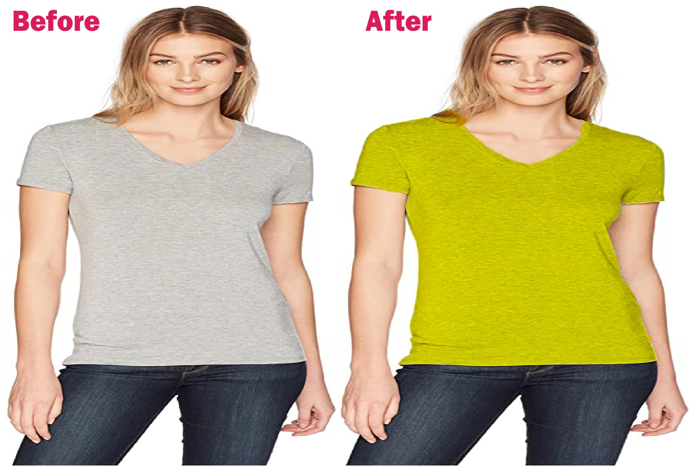 Creating t-shirt design & color removal