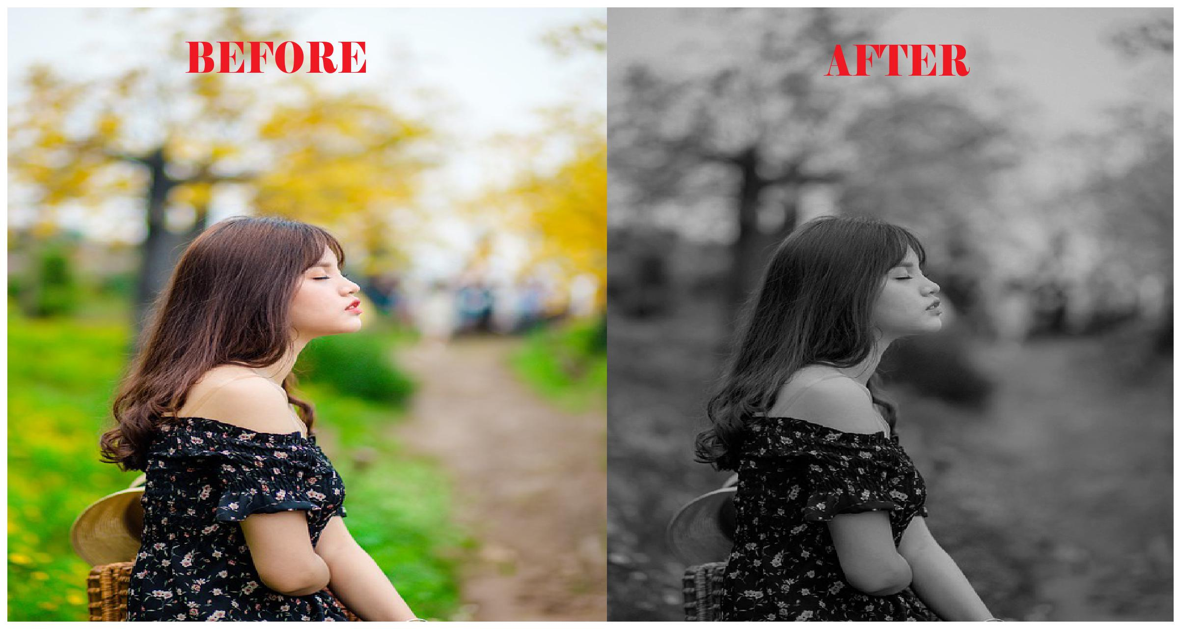 I will transform your 50 images into black & white in one day