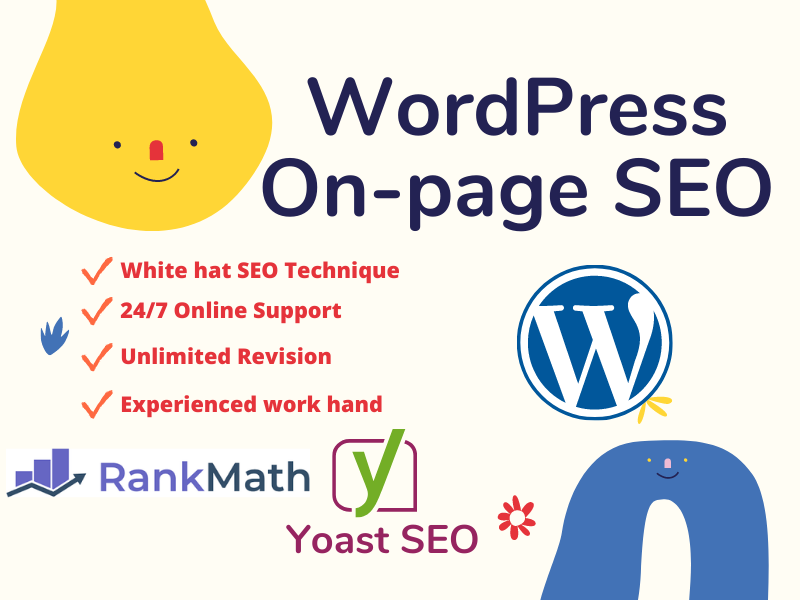 I will do 5 page wordpress On page SEO with Yoast/Rankmath plugin for ranking your website