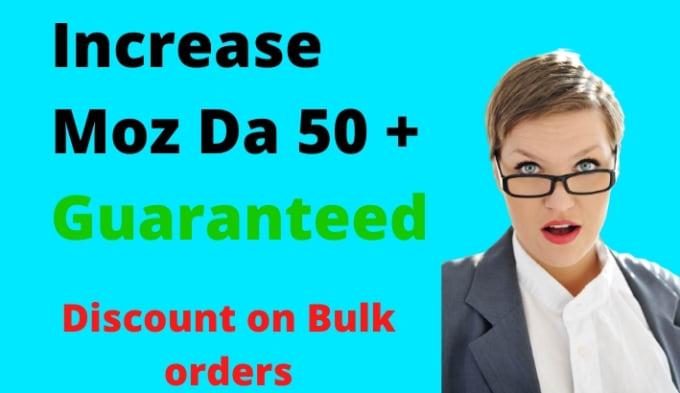 increase moz domain authority increase moz da 50+ plus backlinks