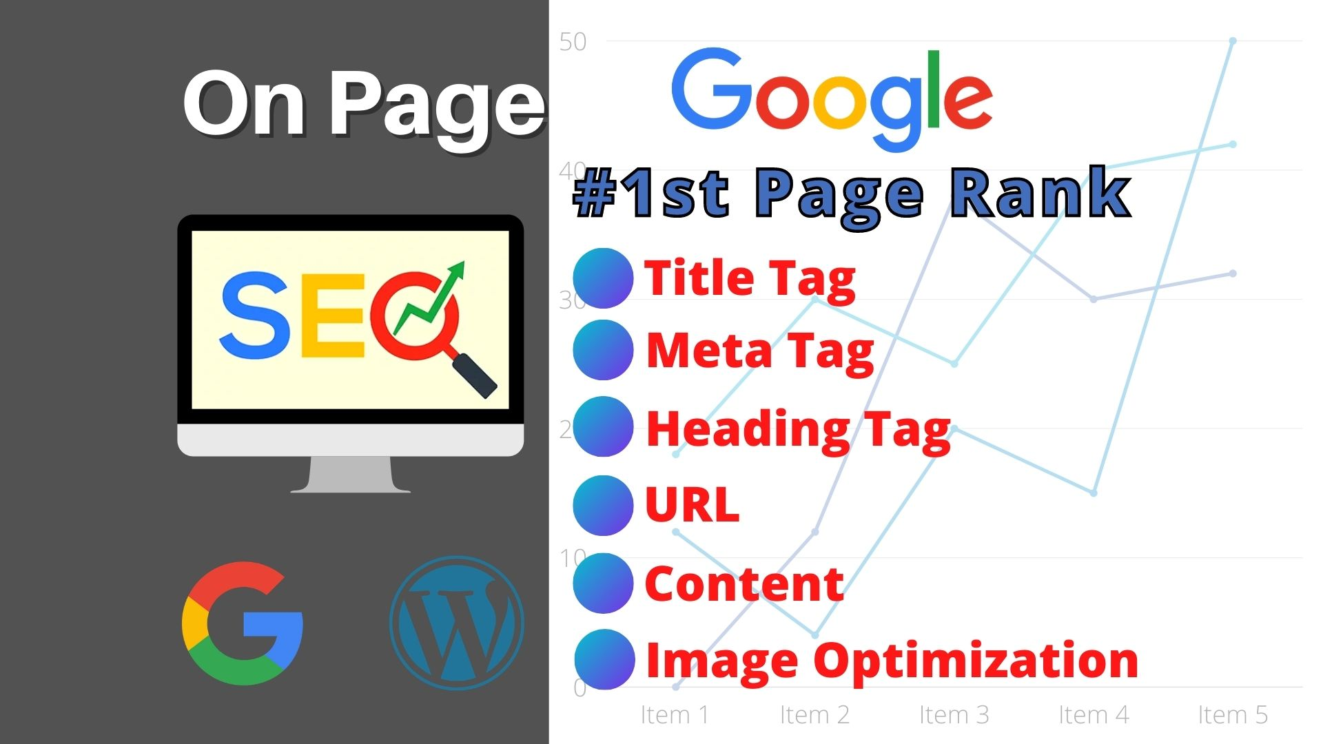I will do complete on page SEO for google 1st page rank