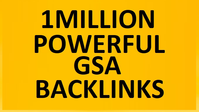 I will do 1million highly verified backlinks your website using ser