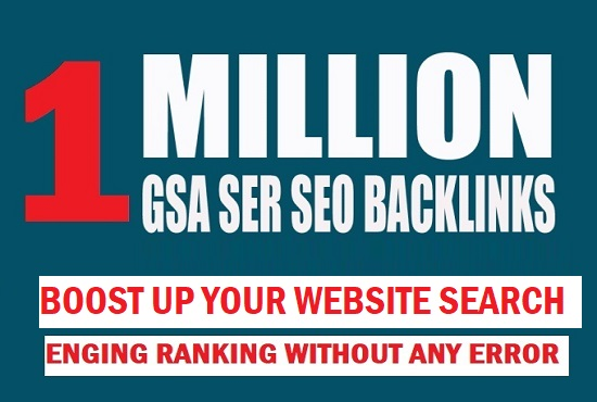 I will build 1M tire 2/3 GSA SER backlinks for your ranking website