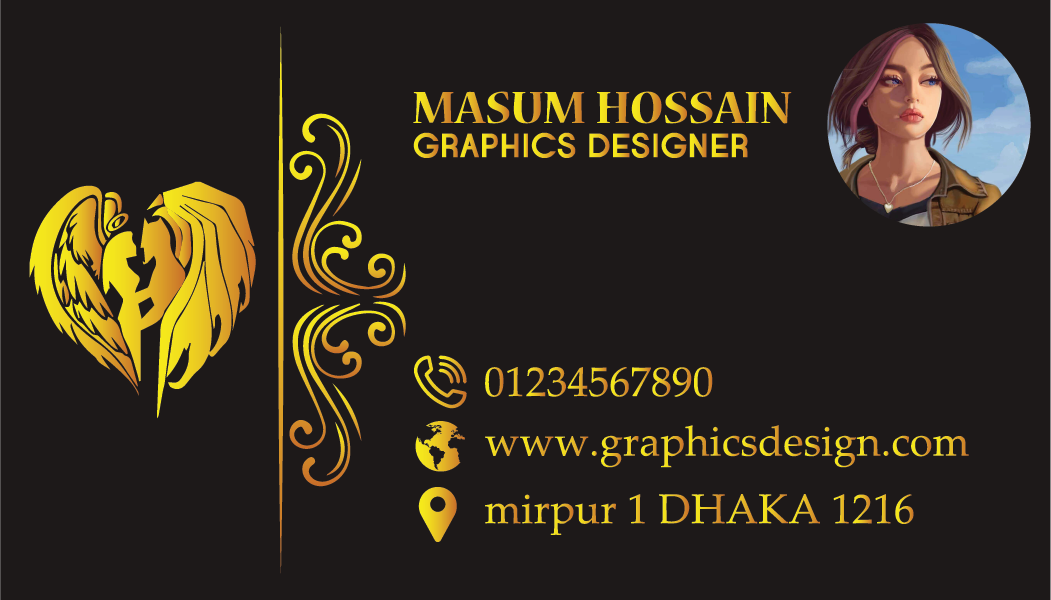 I will do Professional Luxuary Business Card design like this