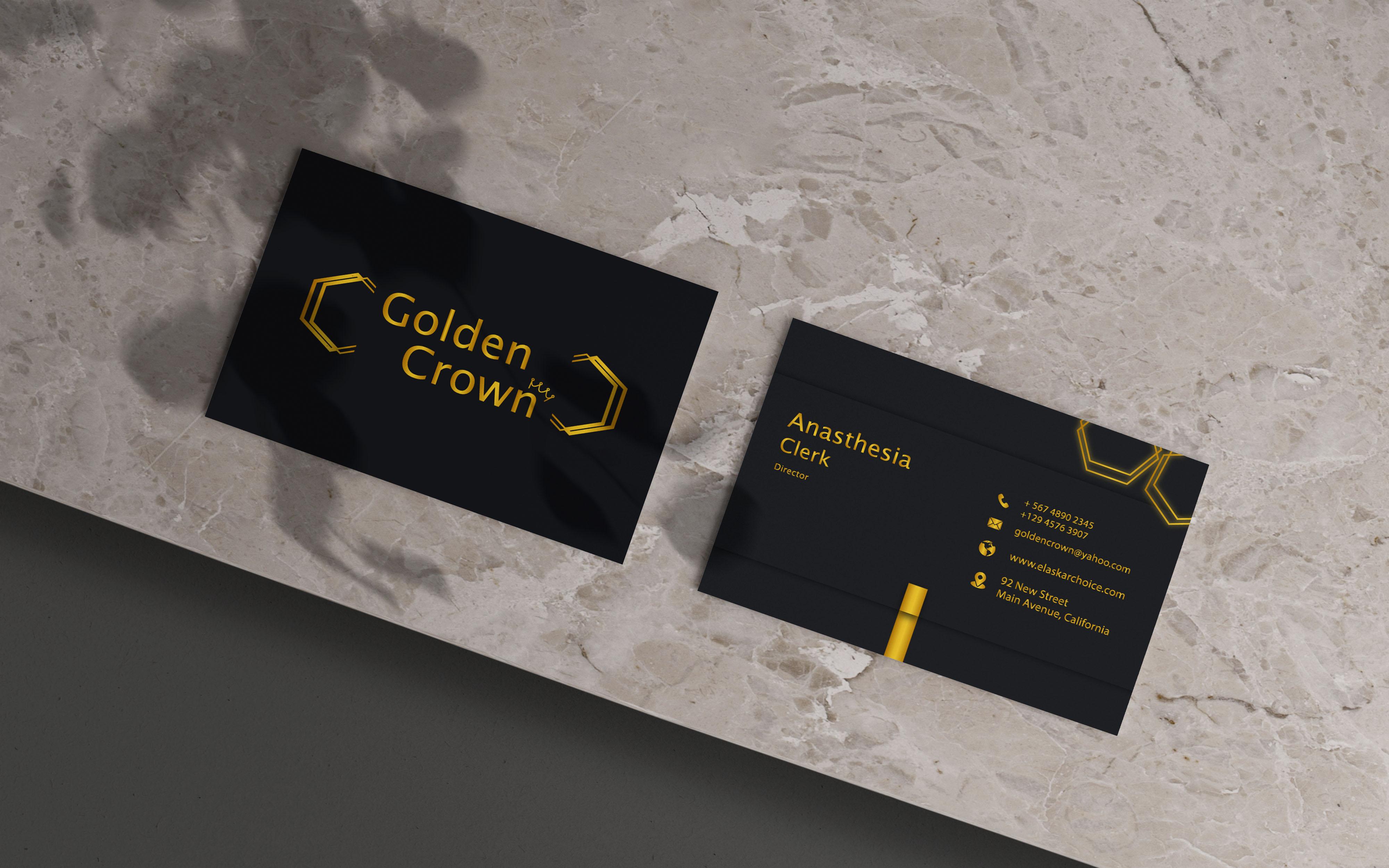 I will create unique customized professional minimalist business card