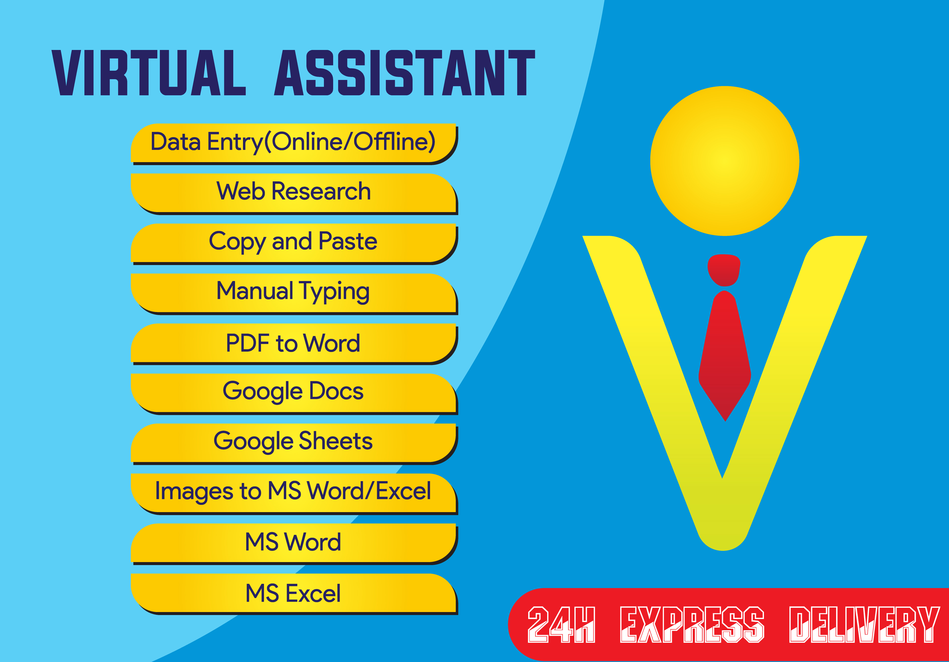 I will do your data entry and be your virtual assistant