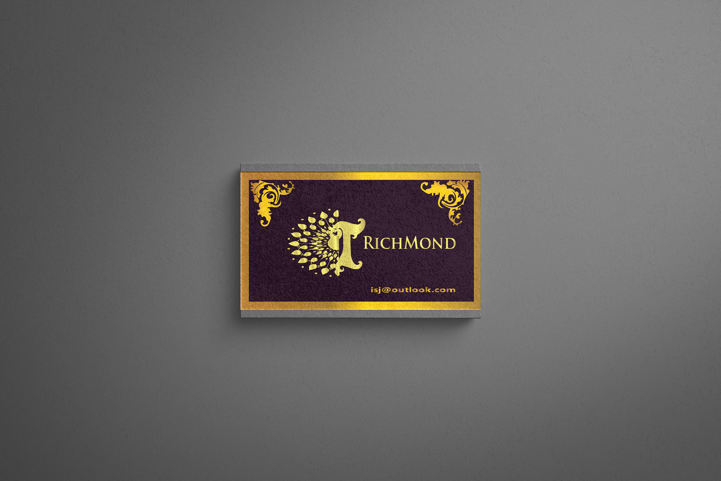 I will provide you a fantastically luxurious business card
