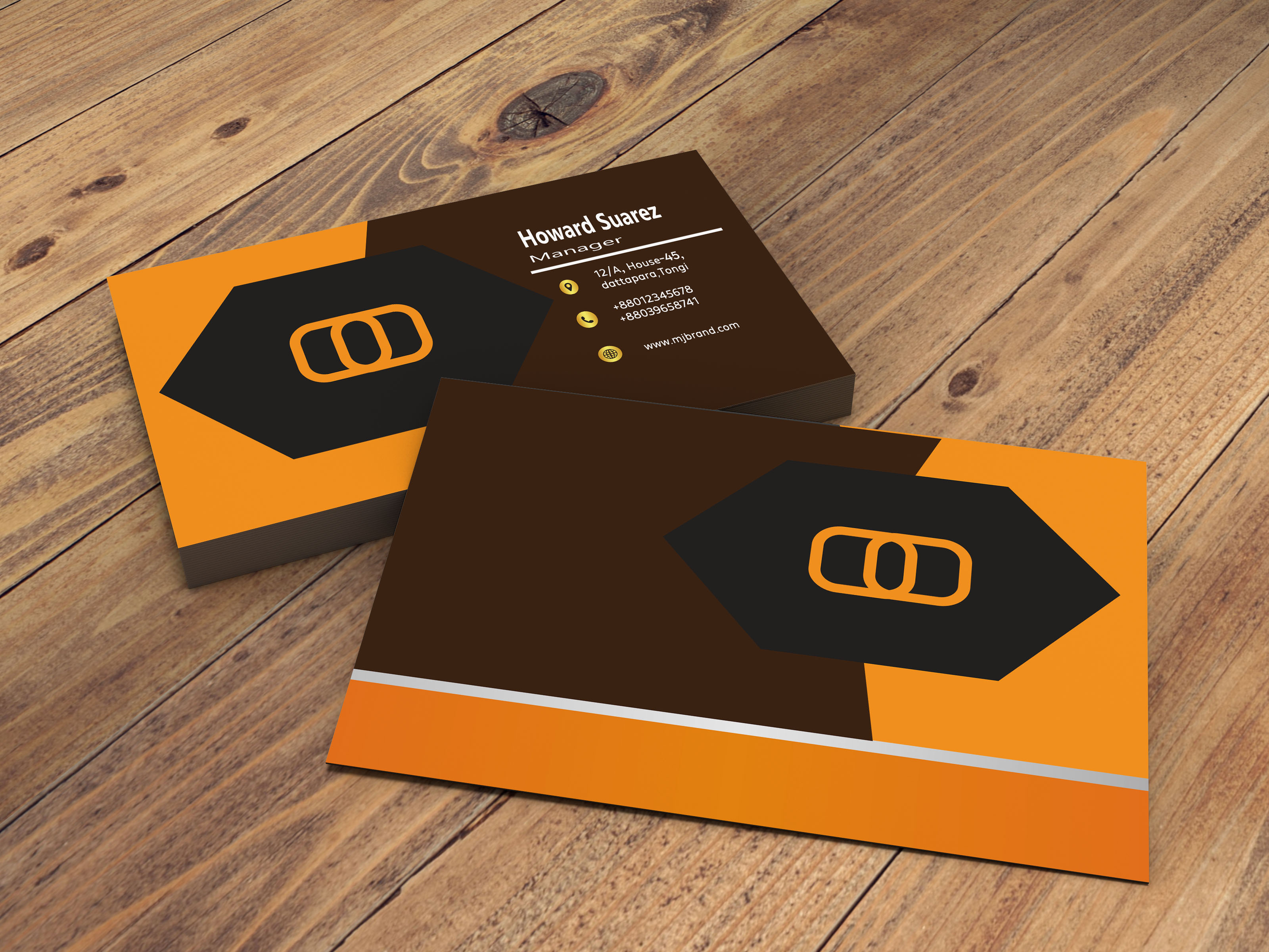 I will make trendy business card for you