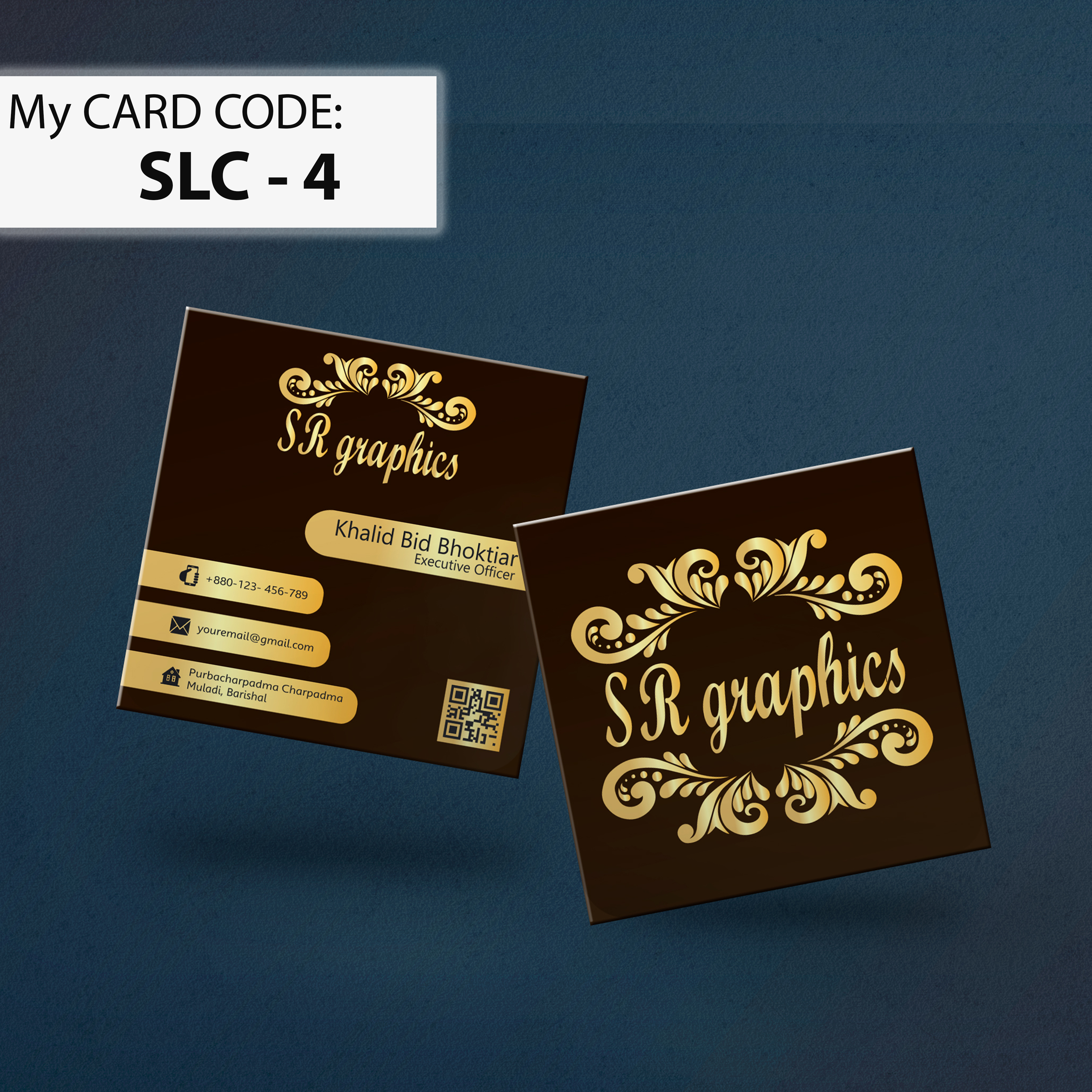 I will create a modern luxury business card design for you in 1 day