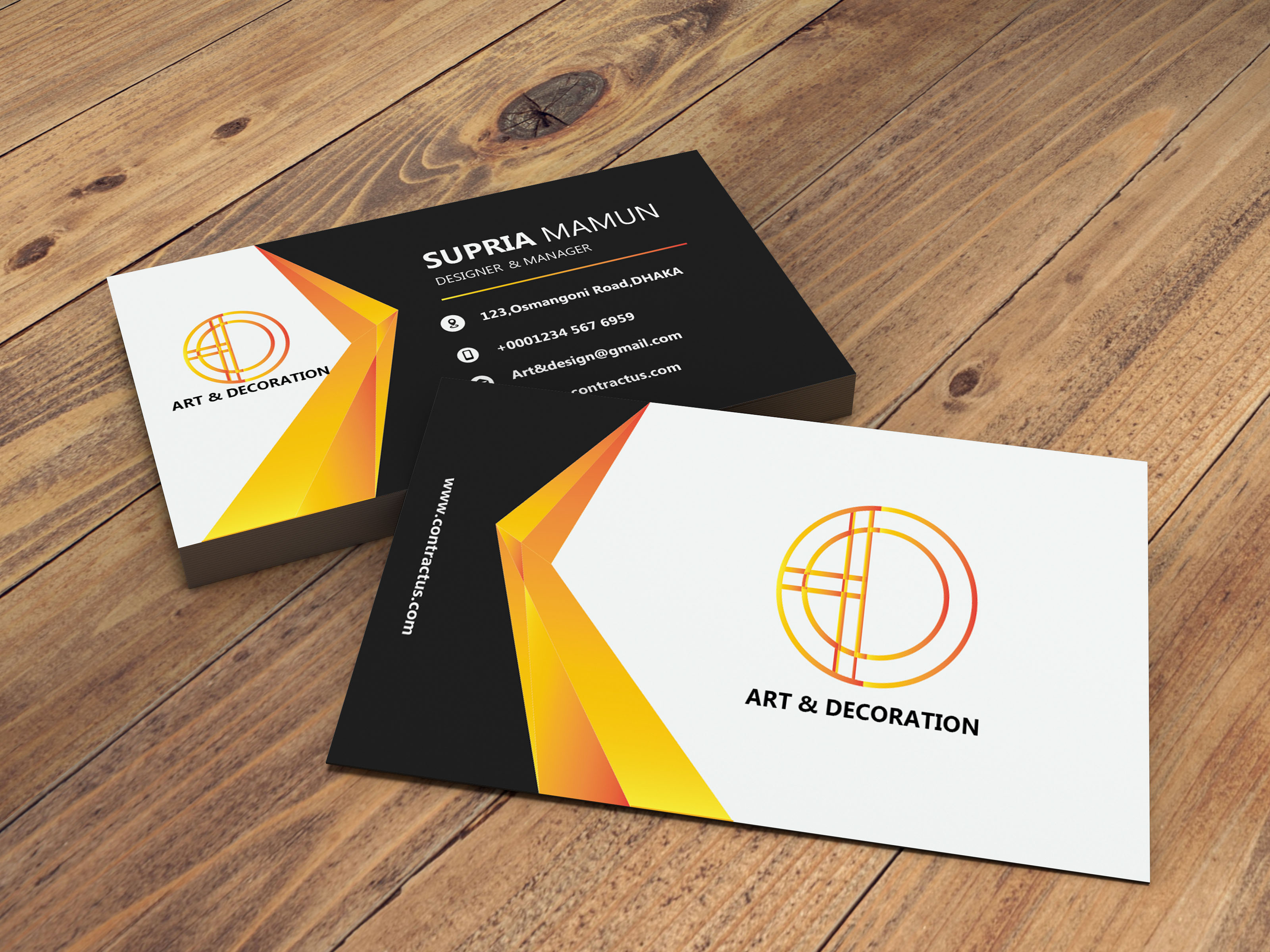 I'll Design You 1 Modern Unique Business Card Design