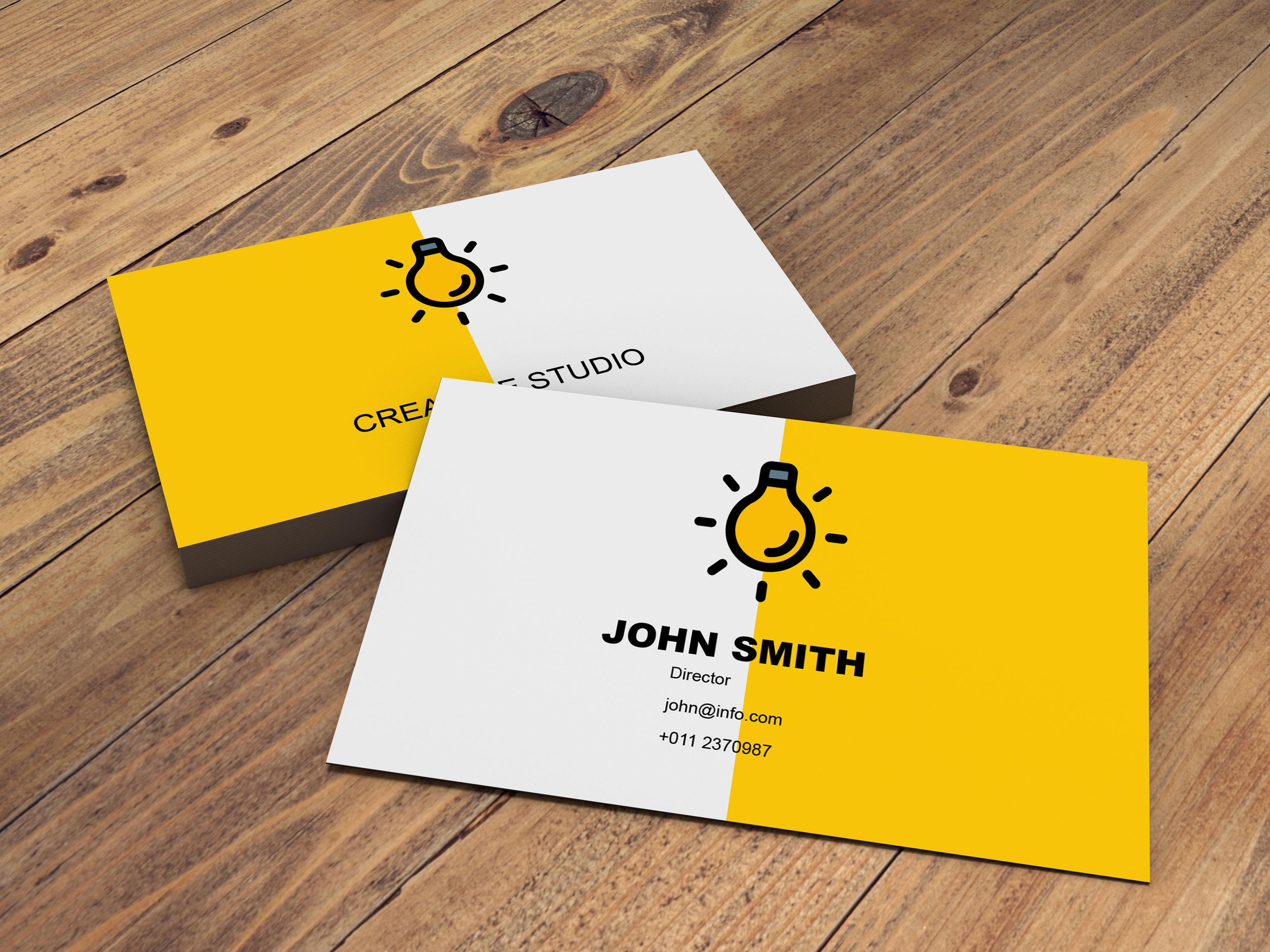 Design modern luxury minimal business card