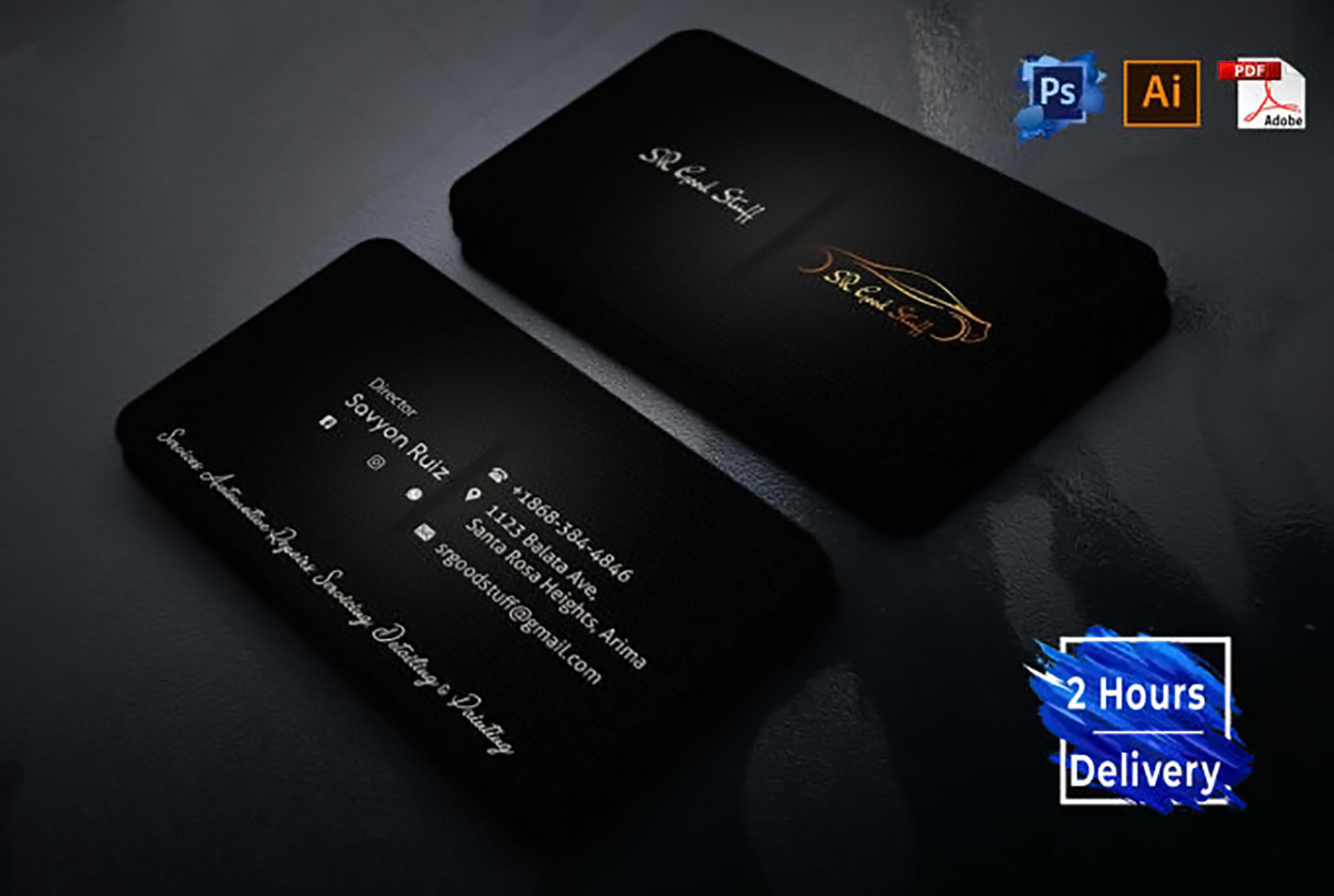 I will design professional business card within 2 hours