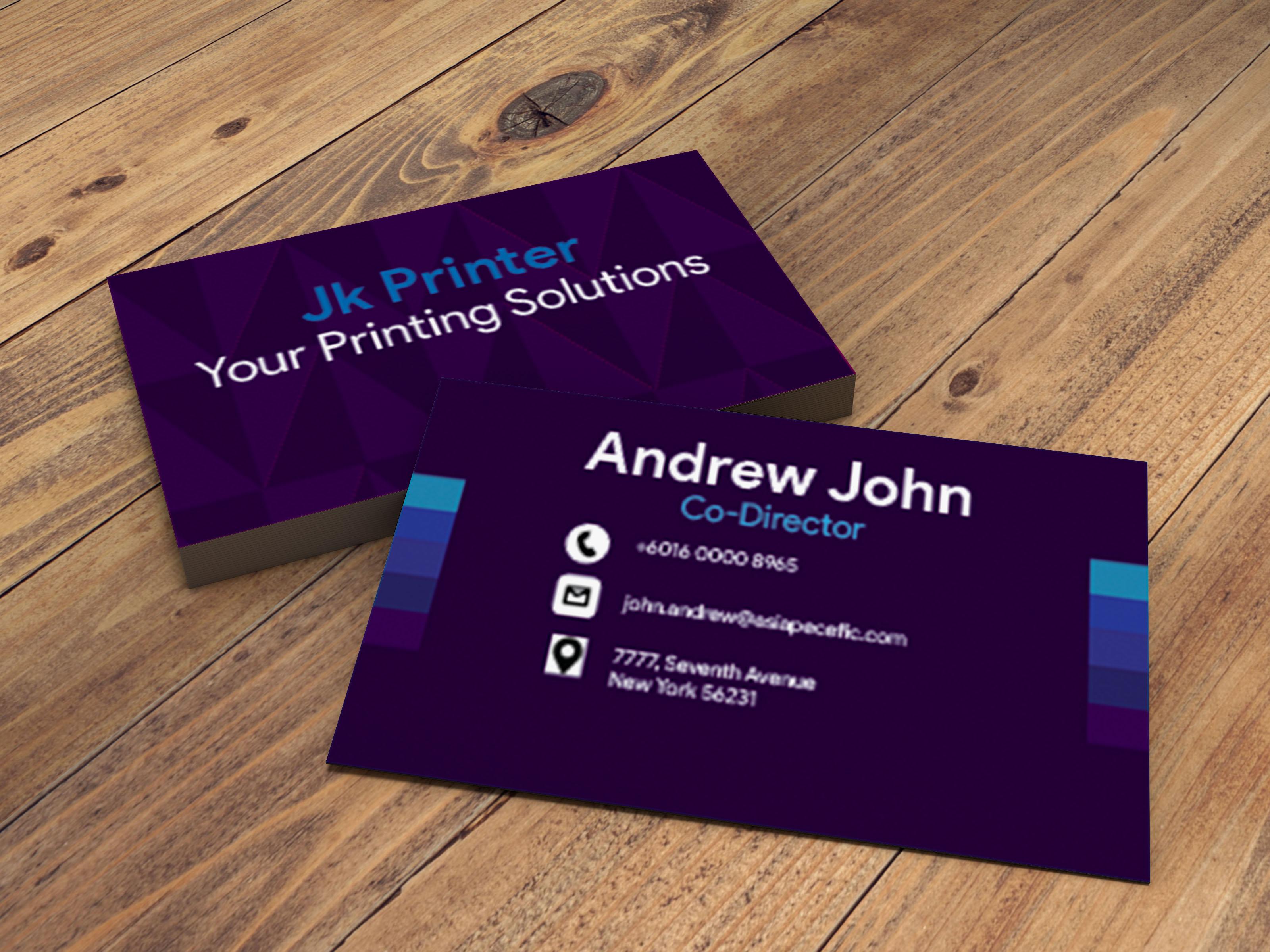 unique creative minimalist business card
