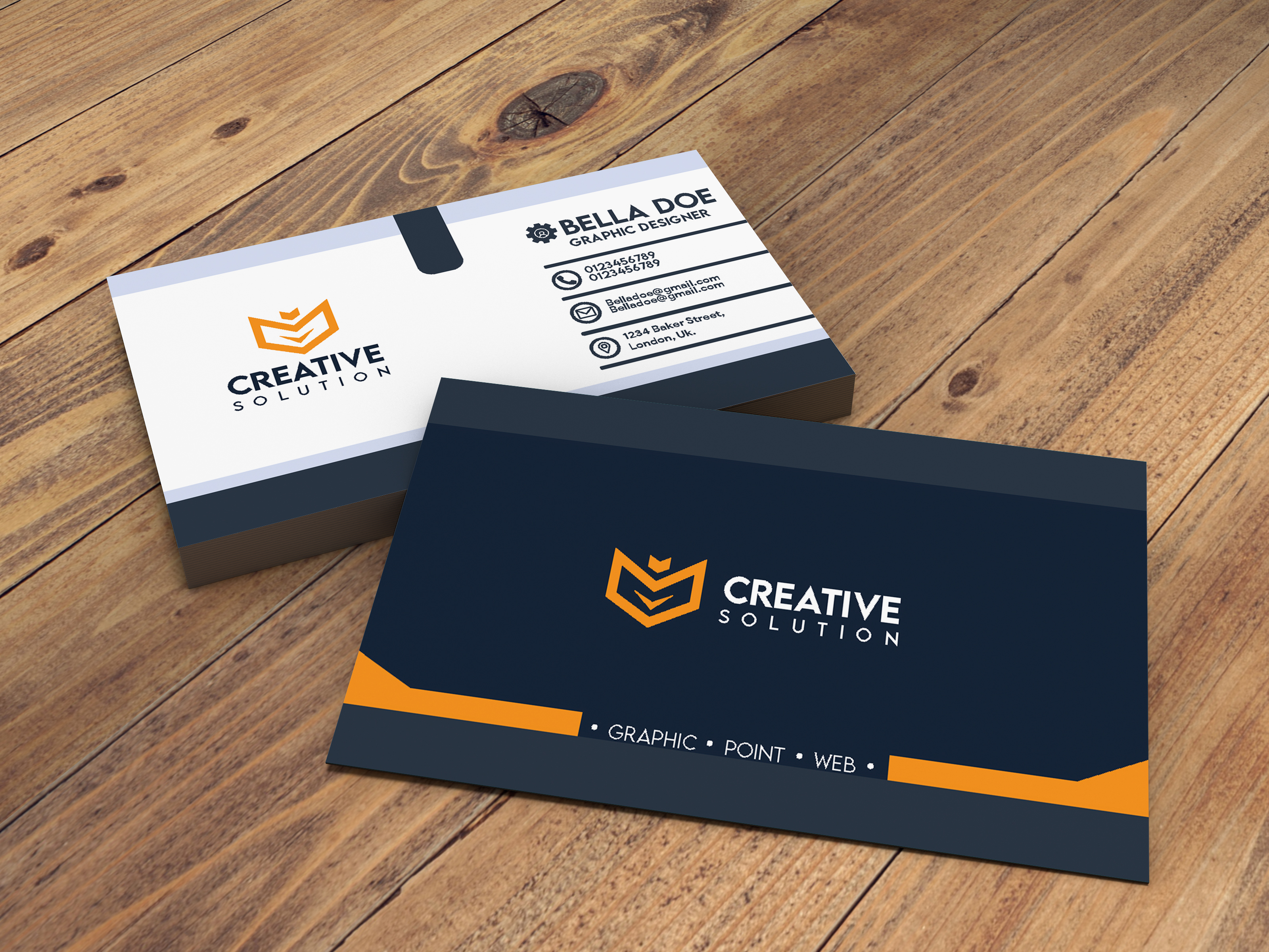 I'll design 1 modern minimalist business card for you